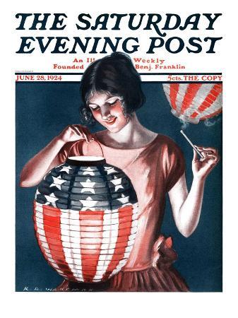 """Japanese Lantern,"" Saturday Evening Post Cover, June 28, 1924"