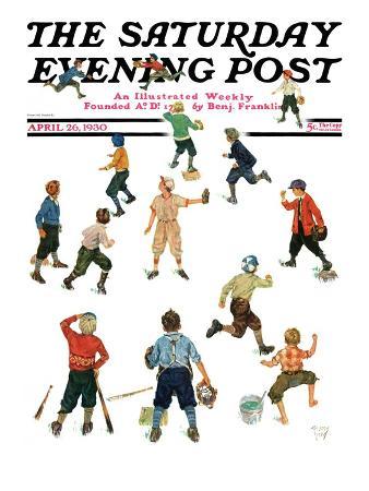 """Home Run,"" Saturday Evening Post Cover, April 26, 1930"