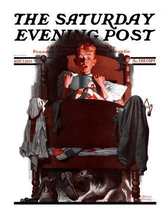 """""""What's That Noise?,"""" Saturday Evening Post Cover, November 7, 1925"""