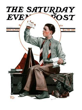 """""""Dad, Where's the Cash?,"""" Saturday Evening Post Cover, November 14, 1925"""