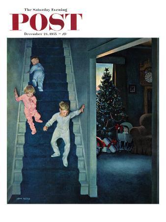 """""""Christmas Morning"""" Saturday Evening Post Cover, December 24, 1955"""