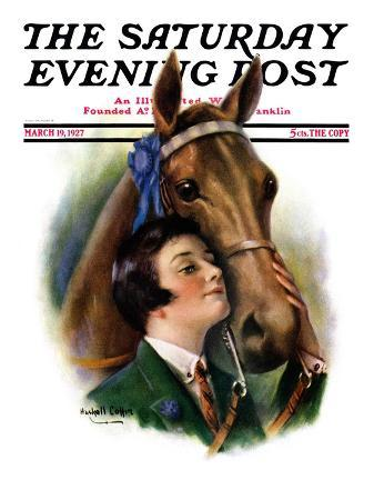 """""""Blue Ribbon Winner,"""" Saturday Evening Post Cover, March 19, 1927"""