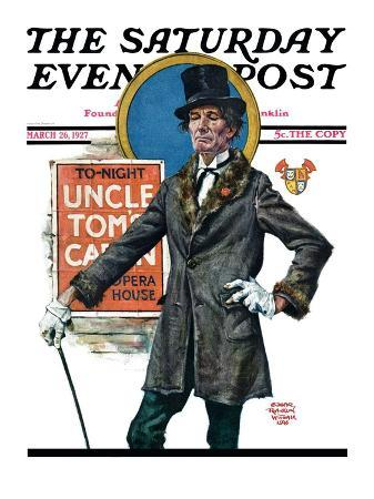"""Uncle Tom's Cabin,"" Saturday Evening Post Cover, March 26, 1927"