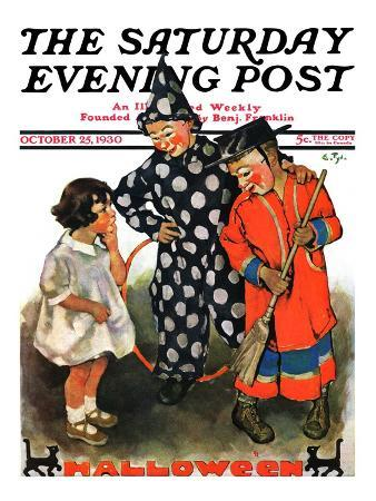 """""""Trick-Or-Treat,"""" Saturday Evening Post Cover, October 25, 1930"""