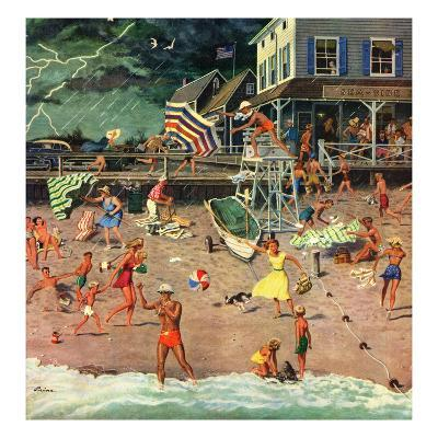 """""""Thunderstorm at the Shore"""", July 10, 1954"""