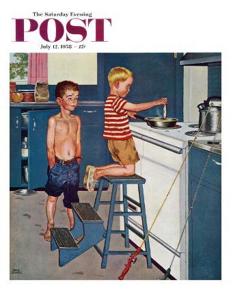 """""""Small Fry"""" Saturday Evening Post Cover, July 12, 1958"""