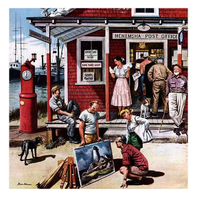 """""""Coastal Postal Office"""", August 26, 1950"""