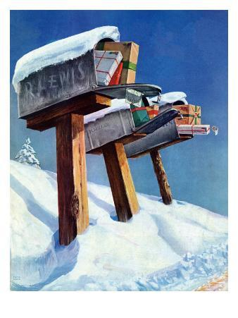 """Mailboxes in Snow,"" December 27, 1941"