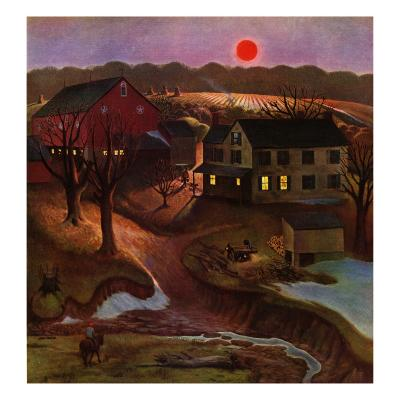 """Nighttime Farm Landscape,"" January 12, 1946"