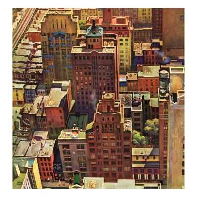 """Bird's-Eye View of New York City,"" August 17, 1946"