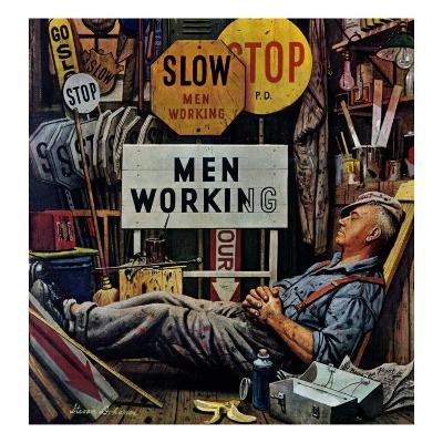 """""""Men Working,"""" April 12, 1947"""