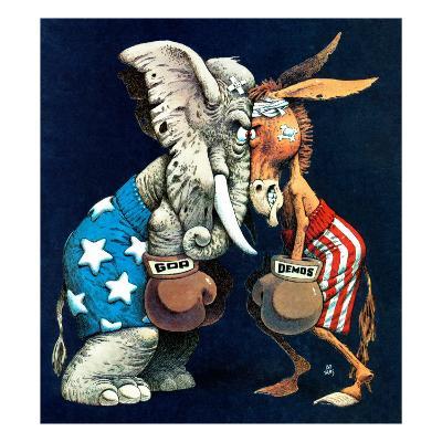 """""""Democrats vs. Republicans,"""" July/Aug 1980"""