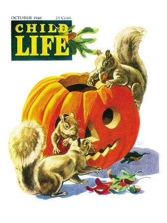 Fall is Here - Child Life, October 1946