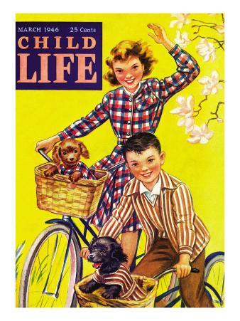 Spring Bike Ride - Child Life, March 1946