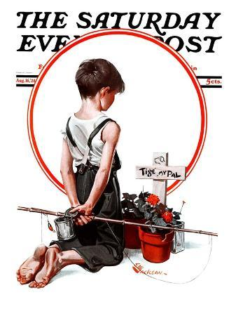 """""""'Tige, My Pal',"""" Saturday Evening Post Cover, August 16, 1924"""