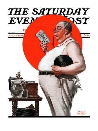 """""""Reduce to Music,"""" Saturday Evening Post Cover, August 2, 1924"""