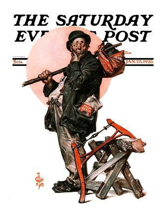 """""""Who, Me Work?,"""" Saturday Evening Post Cover, January 23, 1926"""