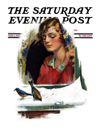"""""""Snow Birds,"""" Saturday Evening Post Cover, March 6, 1926"""
