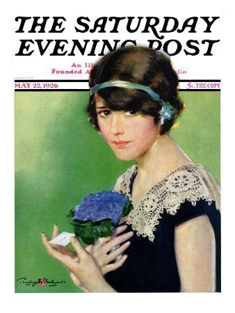 """Purple Posey,"" Saturday Evening Post Cover, May 22, 1926"