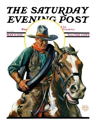"""Flat Tire,"" Saturday Evening Post Cover, May 8, 1926"