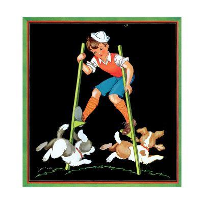 Boy on Stilts - Child Life