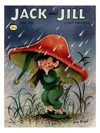 Elf in the Rain - Jack and Jill, April 1956