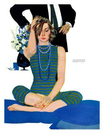 """End of a Marriage - Saturday Evening Post """"Leading Ladies"""", April 13, 1957 pg.27"""