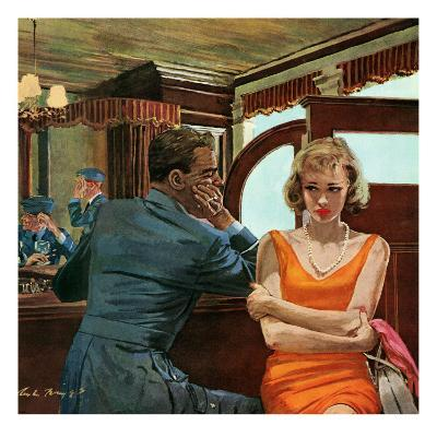 """The Day He Went Away - Saturday Evening Post """"Leading Ladies"""", April 11, 1959 pg.21"""
