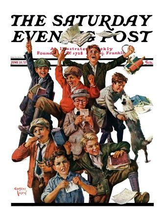 """""""School's Out,"""" Saturday Evening Post Cover, June 25, 1927"""