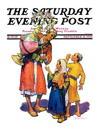 """Arab Vendor and Children,"" Saturday Evening Post Cover, September 21, 1929"