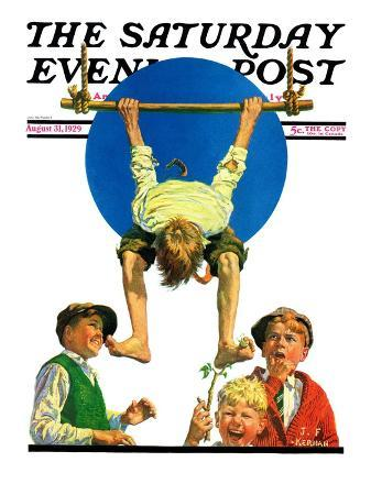 """""""Trapeze Tickle,"""" Saturday Evening Post Cover, August 31, 1929"""