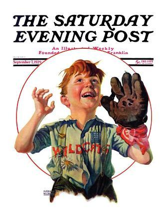 """Pop-Up Fly,"" Saturday Evening Post Cover, September 7, 1929"