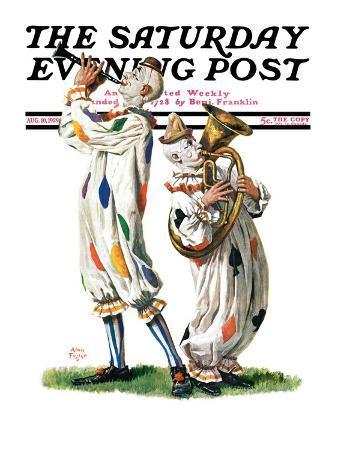 """Musical Clowns,"" Saturday Evening Post Cover, August 10, 1929"