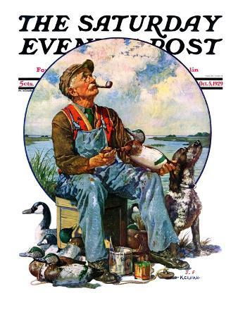 """Decoys,"" Saturday Evening Post Cover, October 5, 1929"