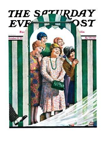 """""""There Goes the Bride,"""" Saturday Evening Post Cover, October 12, 1929"""