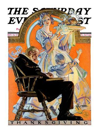"""Childhood Thanksgiving,"" Saturday Evening Post Cover, November 26, 1927"