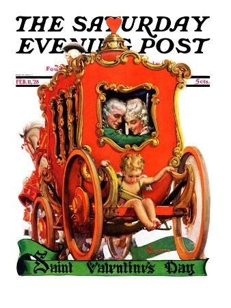 """Valentine Ride,"" Saturday Evening Post Cover, February 11, 1928"