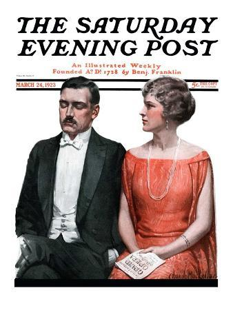 """""""Sleeping it Opera,"""" Saturday Evening Post Cover, March 24, 1923"""