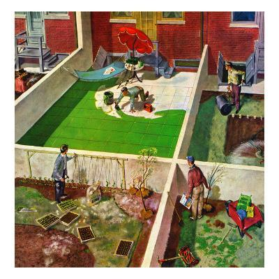 """""""Painting the Patio Green"""", May 2, 1953"""