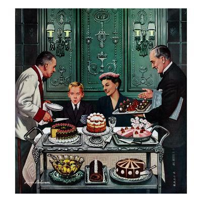"""""""Dessert Cart"""", January 1, 1955"""