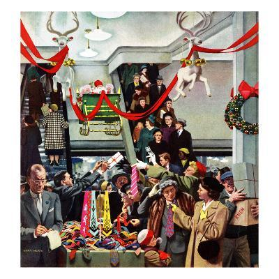 """""""Department Store at Christmas"""", December 6, 1952"""