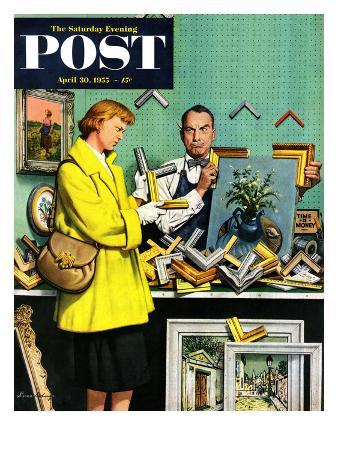 """Frame-Up"" Saturday Evening Post Cover, April 30, 1955"
