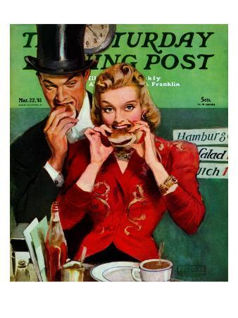 """Late Night Snack,"" Saturday Evening Post Cover, March 22, 1941"