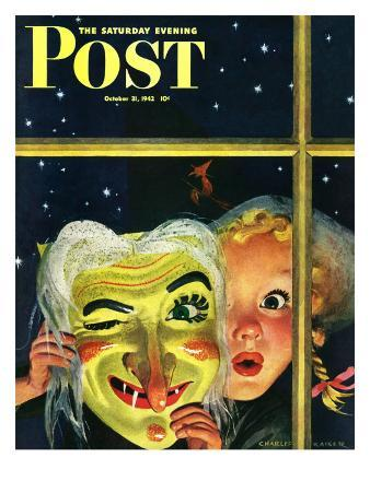 """""""Witch's Mask,"""" Saturday Evening Post Cover, October 31, 1942"""