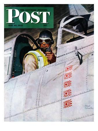 """""""Fighter Pilot,"""" Saturday Evening Post Cover, May 22, 1943"""