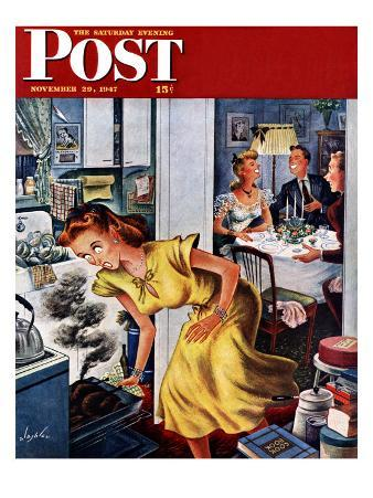 """Burnt Turkey,"" Saturday Evening Post Cover, November 29, 1947"