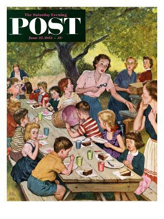 """Out of Ice Cream"" Saturday Evening Post Cover, June 27, 1953"