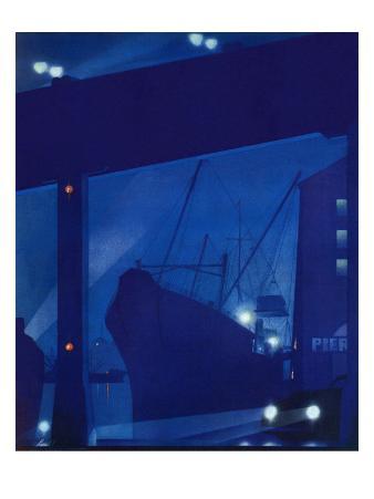 """Nighttime in Port,"" January 13, 1940"