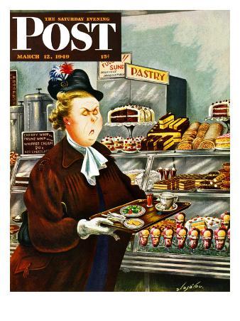 """NO Desserts,"" Saturday Evening Post Cover, March 12, 1949"