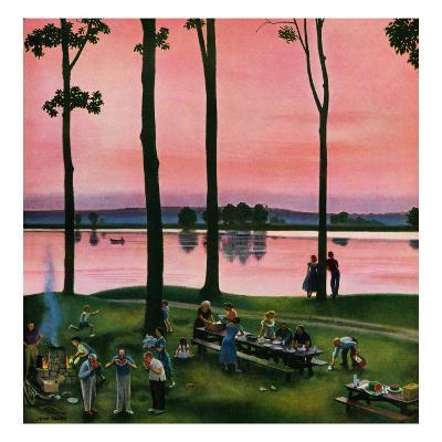 """Evening Picnic"", August 18, 1951"